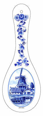 Delft Blue Windmill Ceramic Spoon Rest