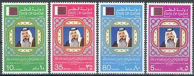 Qatar 1981 ** Mi.800/03 Thronbesteigung Accession of Sheikh Al Thani