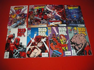 DEADPOOL SINS OF THE PAST 1  2  3  4  &  DEADPOOL vs X-FORCE 1  2  3  4  NEW/NM