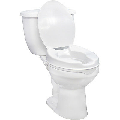 Raised Toilet Seat with Lock and Lid - With Lid 4 Inches