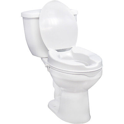 Raised Toilet Seat with Lock and Lid - With Lid 6 Inches