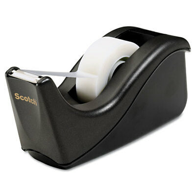 Value Desktop Tape Dispenser, 1'' Core, Two-Tone Black