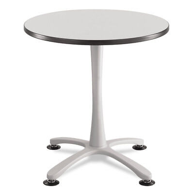 Cha-Cha Sitting Height Table Base, X-Style, Steel, 29'' High, Metallic Gray