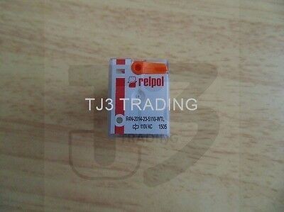 RELPOL 4PDT Socket Mount Mount Non-Latching Relay, 6 A, 110V ac FREE DELIVERY