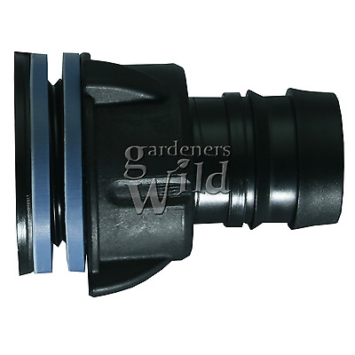 TANK CONNECTOR 25mm bulkhead irrigation pipe fitting hydroponic water butt pond