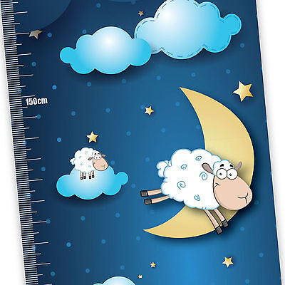 My Counting Sheep Children's Height Chart with FREE metallic Stickers