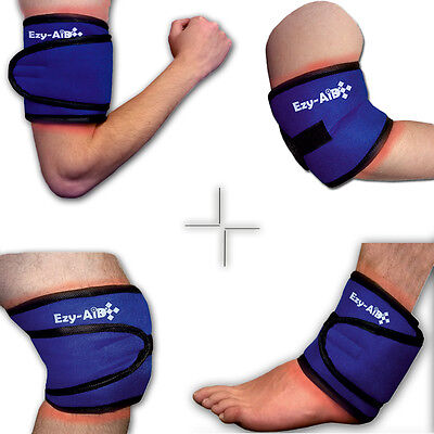 Ezy Compress Wrap For Ankle / Knee / Elbow / Arm Cuff - Ice or Hot Cold Gel Pack