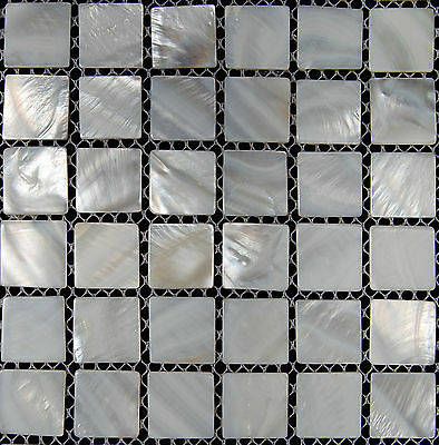 Mother Of Pearl Mosaic Tiles River Bed Nature  Shell Mosaic Squre White 25*25mm