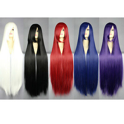 Fashion 100cm Long Women' Halloween Wigs Straight Anime Cosplay Party Wig