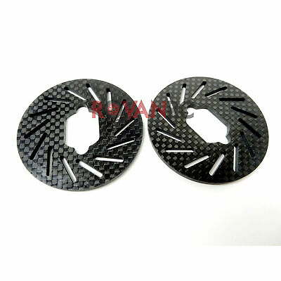 1/5 Rovan LT Carbon Fiber Brake Discs, Rotors (2) Fit LOSI 5IVE T King Motor X2