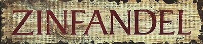 ZINFANDEL ~ Handcrafted Custom Made Wood Bar Sign w/ Your Name ~ by PLD