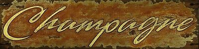 CHAMPAGNE ~ Handcrafted Custom Made Wood Bar Sign w/ Your Name ~ by PLD