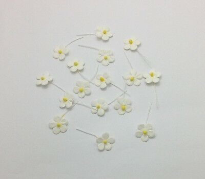 180Pcs off-White Small Tiny Flowers Paper Card Making for Scrapbooking Crafts
