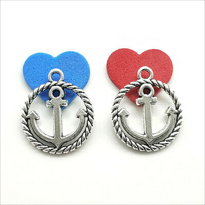 Lot 20/60/100pcs Retro style Jewelry Making anchor alloy charms pendant 18x16mm