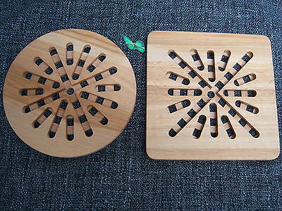 Large Trivet Wooden Heat Resistant Hot Plate Stands Serving Stand Placemat