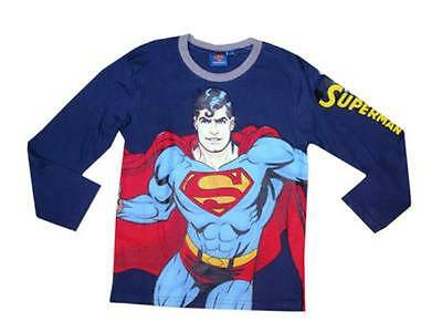 Boys Girls Kids Superman Long Sleeve T-Shirt **Officially Licensed Product**