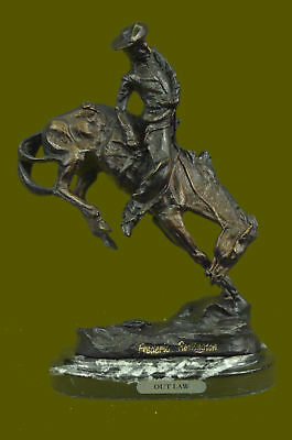 FREDERIC REMINGTON, Mid 20th C. Bronze Sculpture The Cowboy Hand Made Figurine