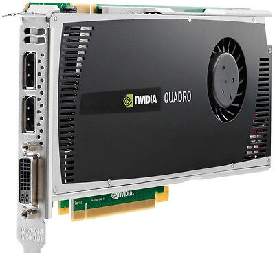 NVIDIA QUADRO 4000 for Apple Mac Pro 2GB DVI Displayport CUDA OpenCL FLASHED