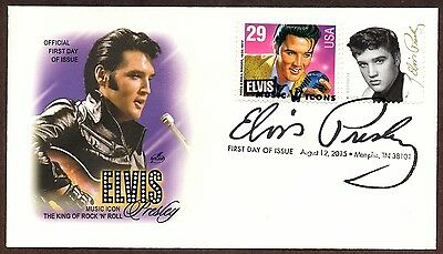 2015  Elvis Presley Stamp - Art Craft Combo Cachet ~ First Day Cancel