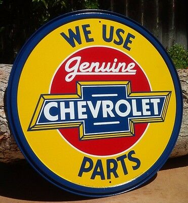 GENUINE CHEVY PARTS Collectible TIN METAL SIGN Rustic Poster Retro Classic