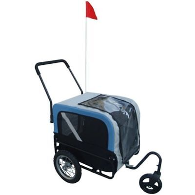 New Dog Bike Bicycle Trailer Storller Jogger Outdoor Grey And Blue