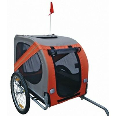 New Bicycle Trailer Stroller Jogger Pet Dog Orange Grey Animal