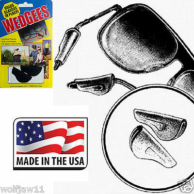 'WEDGEES' Non-slip Grip Sunglasses/Eyeglasses/Spectacles Holder Retainers BLACK