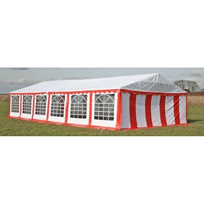New Durable Party Tent Top Canopy Marquee Side Panels 12 x 6 m Red & White