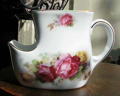 Stunning Early Porcelain Shaving Mug Roses Brecon