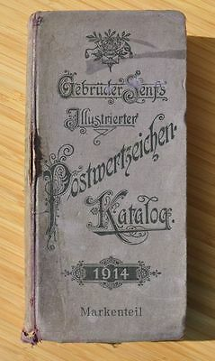 1914 Germany World Postal Stamps Antique Catalogue Guide Book