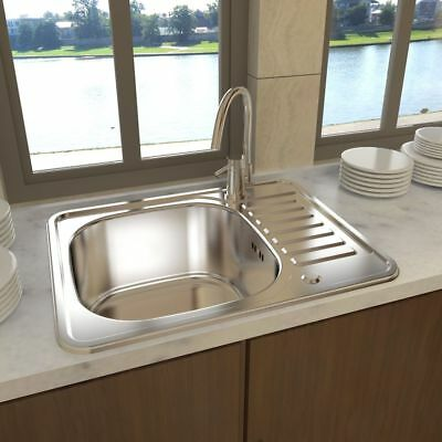 New Square Kitchen Sink Stainless Steel with Drain Extended Side Board