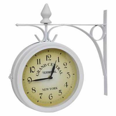 Wall Clock Two-Sided Double Classic Design Clock Home Wall Hanging Clock