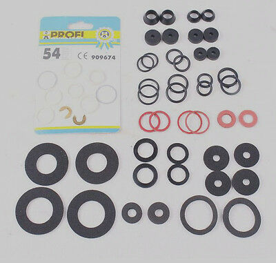 54 PC KIT Rubber Ring Seals Plumbing Tap Washers Gaskets Assortment Multi-use
