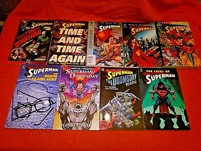 Superman Doomsday Death Of Superman The Return Of Superman Tpb + 4 Graphic Novel