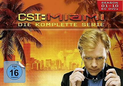 CSI MIAMI COMPLETE SERIES 1-10 DVD BOX SET Season 1 2 3 4 5 6 7 8 9 10 New