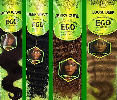 Ego 100% Real Human Hair Extension Weave Curls Collection