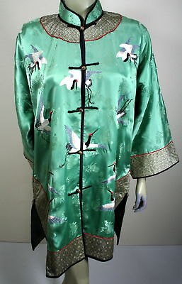 Asian Chinese Silk Hand Embroider Blouse Collectibles