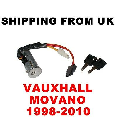 Ignition Switch Lock Barrel & Keys Vauxhall Movano 1998-2010 Without Immobilizer