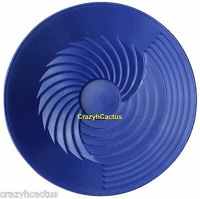 "Turbopan Gold Pan BLUE 10"" VORTEX ACTION! Panning Prospecting Sluice Turbo Pan"