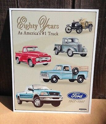 FORD 80 YEARS #1 TRUCK Rustic Collectible Tin Metal Classic Sign Poster Garage