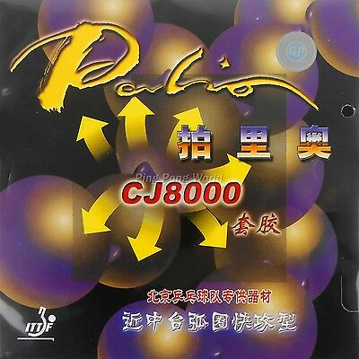 Palio CJ8000 (38-41°) Table Tennis Rubber, Short+Middle Court Loop+Attack Type