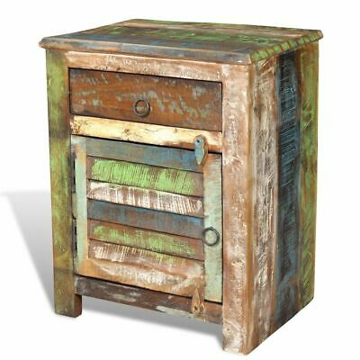 New Reclaimed Home Furniture Vintage Wood Side Storage Cabinet Stand Multicolour