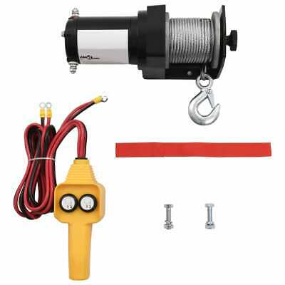 vidaXL Electric Winch 907kg 12V Wire Remote Control Lift Hoist Truck Trailer