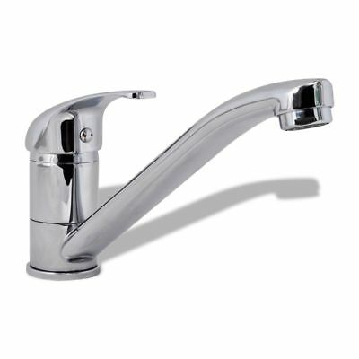 New Modern Kitchen Mixer Tap Single Handle Long Neck Swivel Faucet Chrome Finish