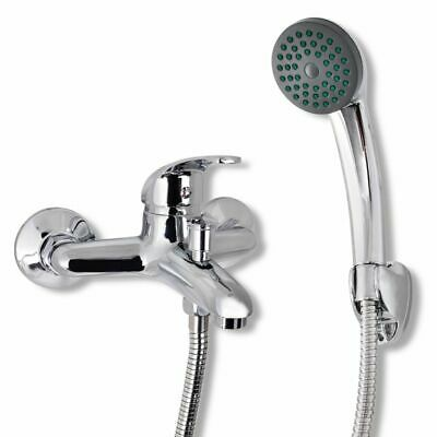 New Bath Shower Mixer Tap Single Handle Faucet with Hose & Showerhead & Hook