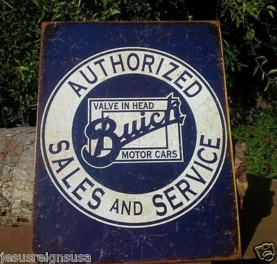 AUTHORIZED BUICK SERVICE Rustic Collectible Tin Metal Classic Sign Poster Garage