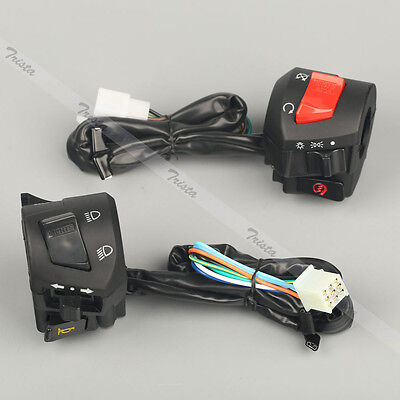 "Motorcycle ATV 7/8"" Handlebar Horn Turn Signal Headlight Electrical Start Switch"