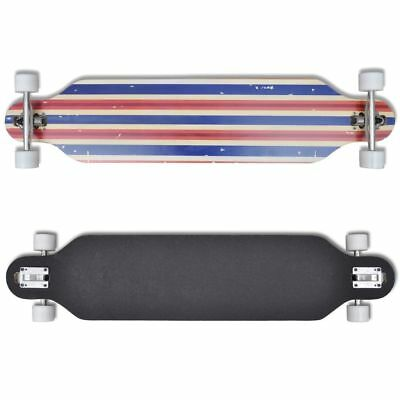 New Professional Complete Longboard Skateboard Drop Through Outdoor Sports Blue