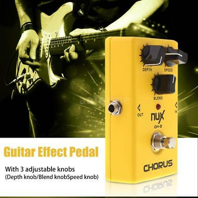 NUX CH-3 Guitar Electric Effect Pedal Chorus Low Noise Natural Clear Sound 45WK
