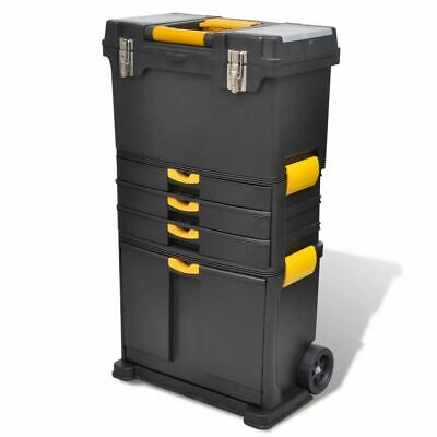 New Durable Plastic Tool Case Chest Tool Box Tool Storage with Handle Black
